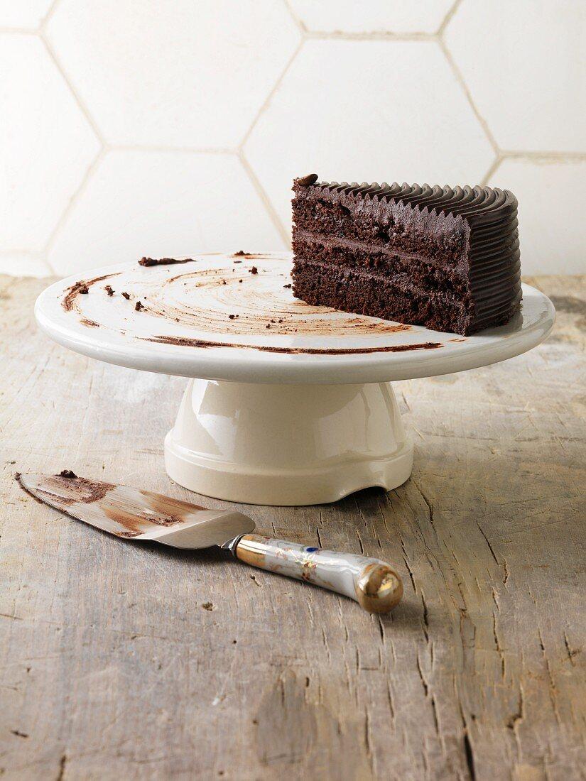 Das letzte Stück Schokoladentorte