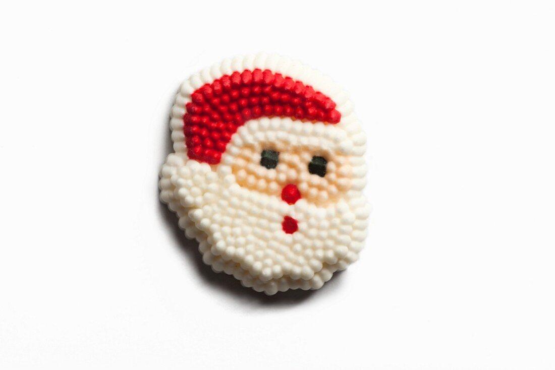 Santa Claus Cake Decoration; White Background