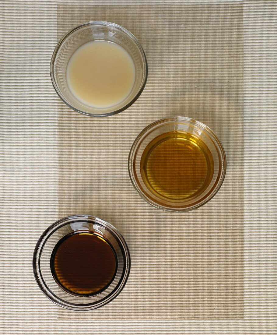 Three Assorted Sweeteners; Agave, Apple Juice and Banana Nectar