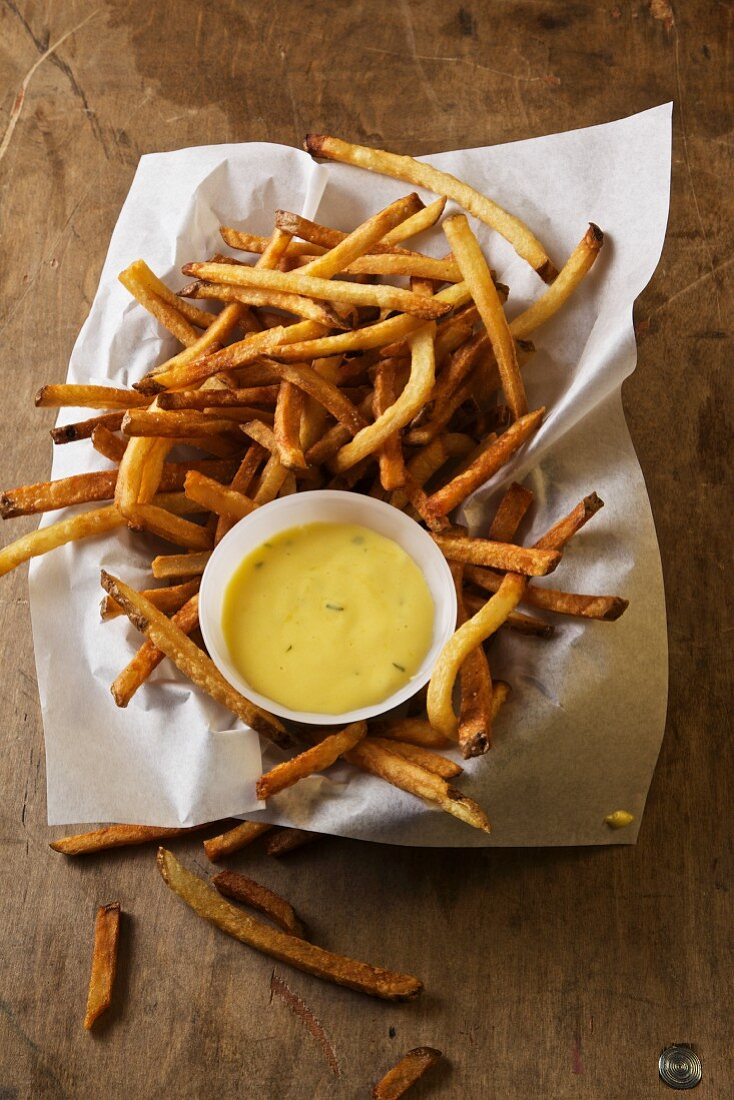 French Fries with Onion Bernaise Sauce