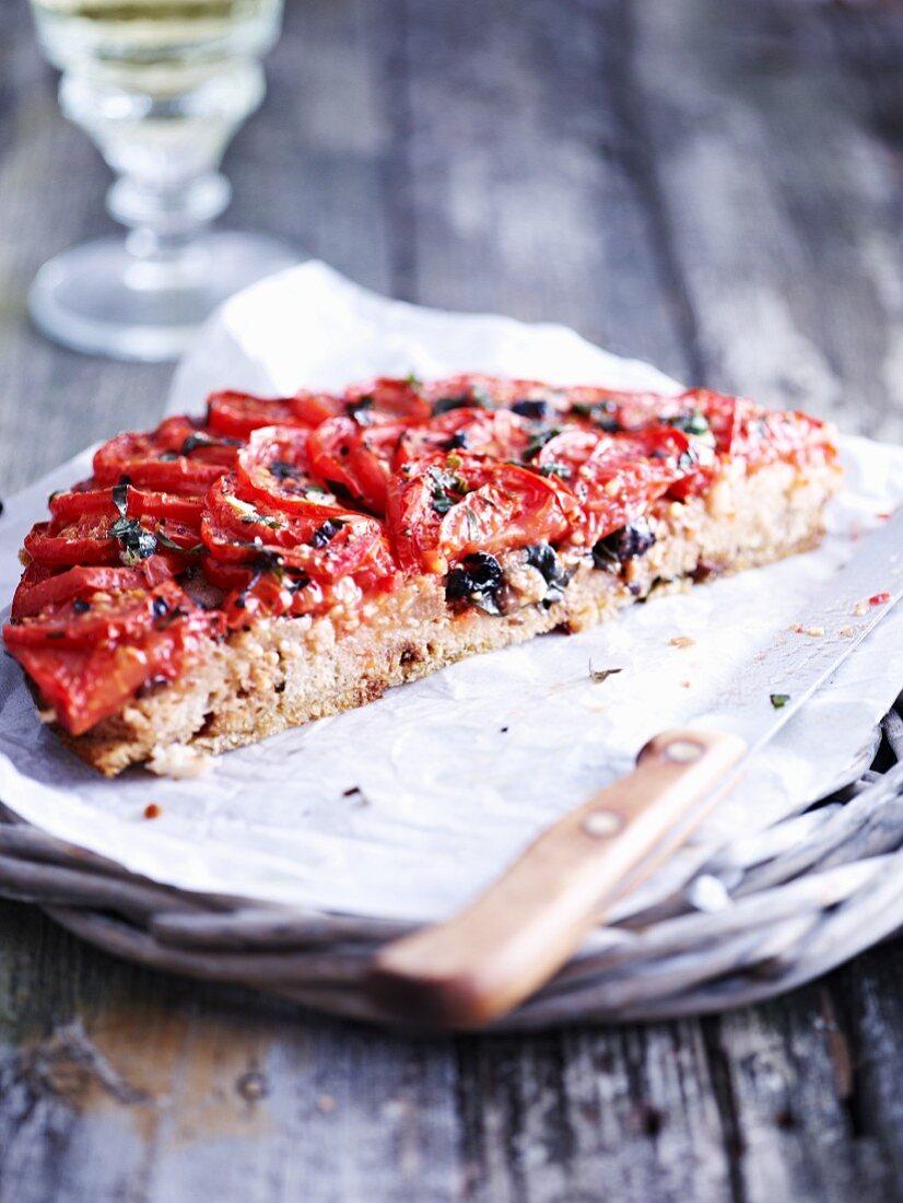 Half a tomato tart