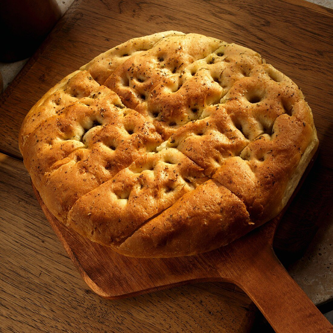 Loaf of Focaccia Bread Paddle