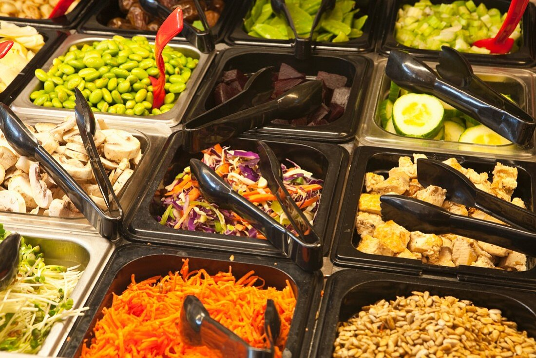 Salad Bar with Local Organic Vegetables