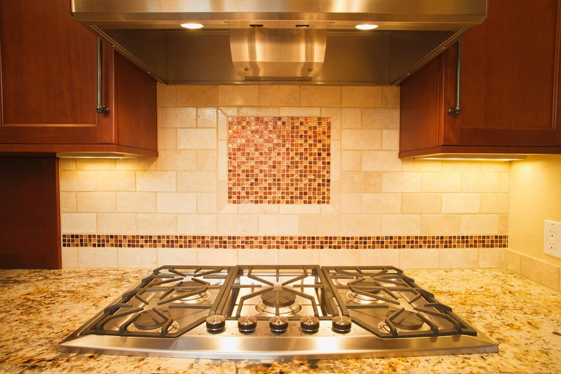Range and Hood in Renovated Kitchen