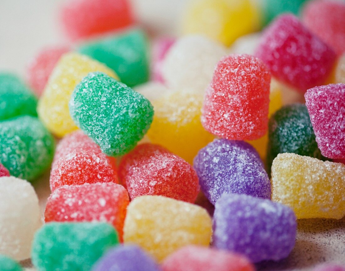 Close Up of Colorful Gum Drops