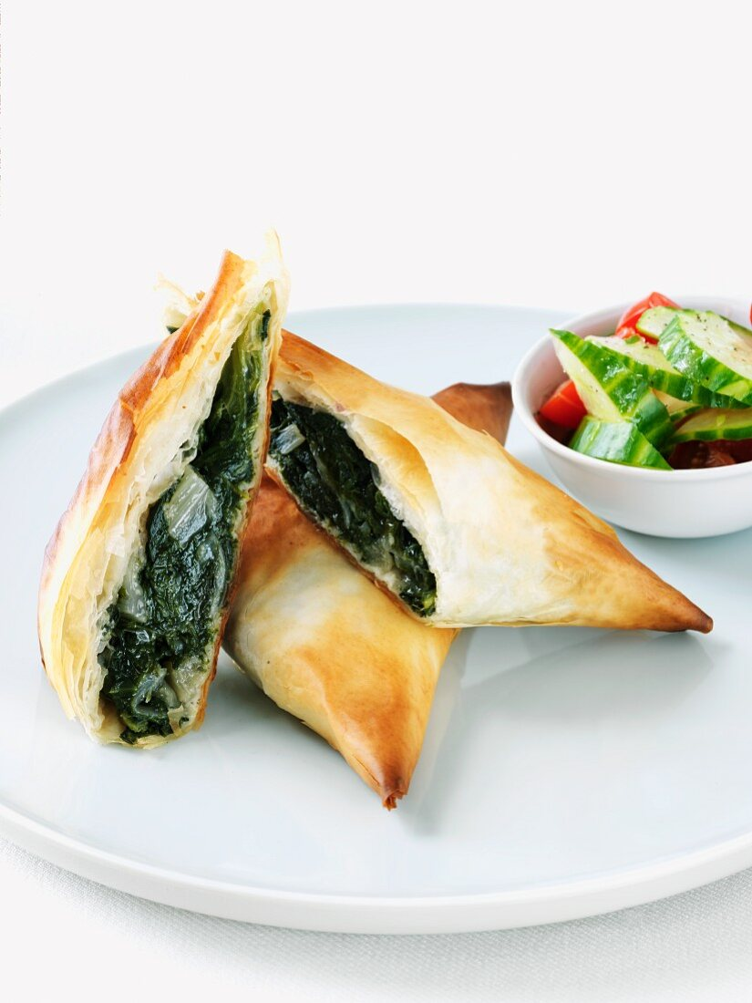 Phyllo Pockets Filled with Swiss Chard