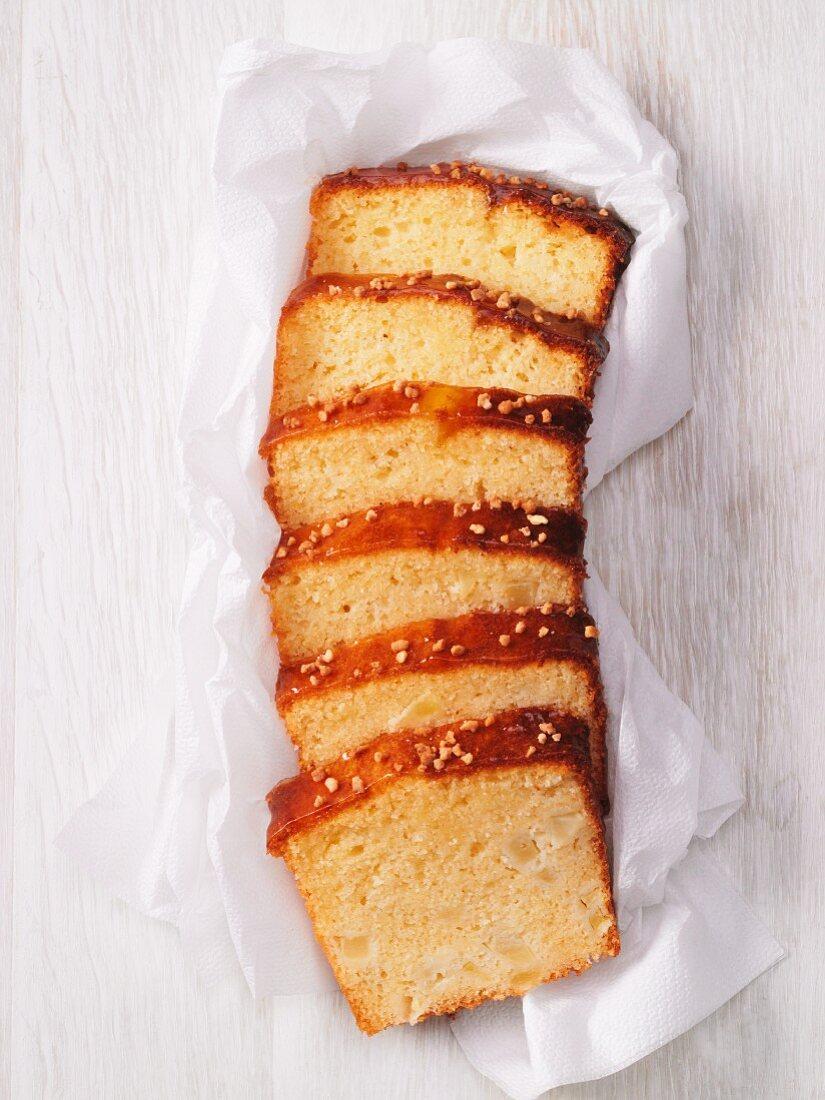 Sliced semolina cake