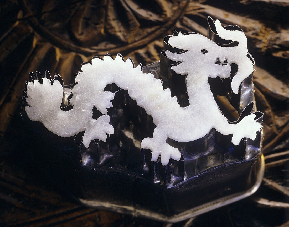A Dragon Carved Out of Radish
