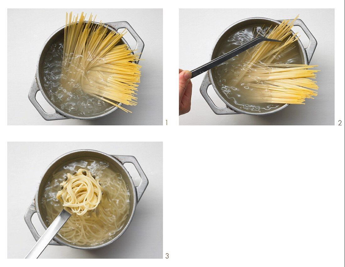 Cooking spaghetti (US-English voice-over)