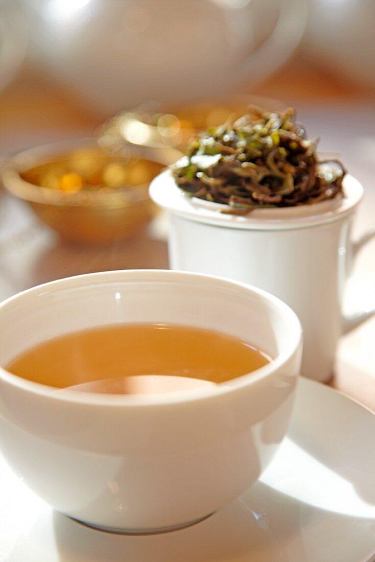 A bowl of tea