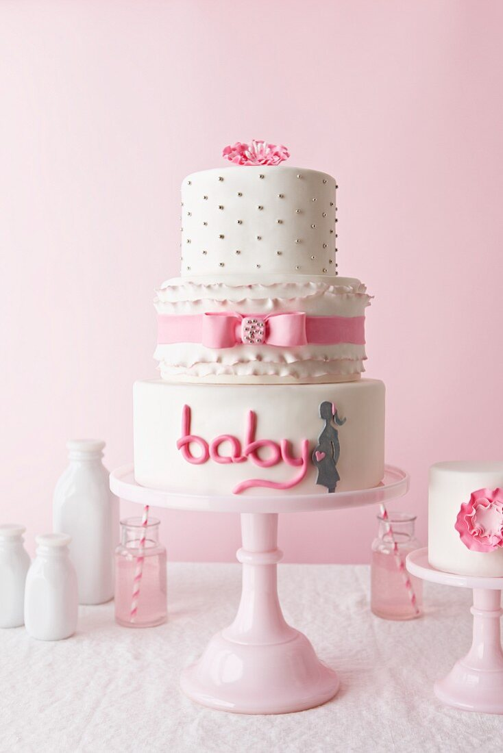 Cake Decorated for a Baby Girl Baby Shower