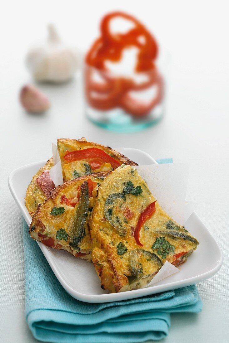 Pepper omelette
