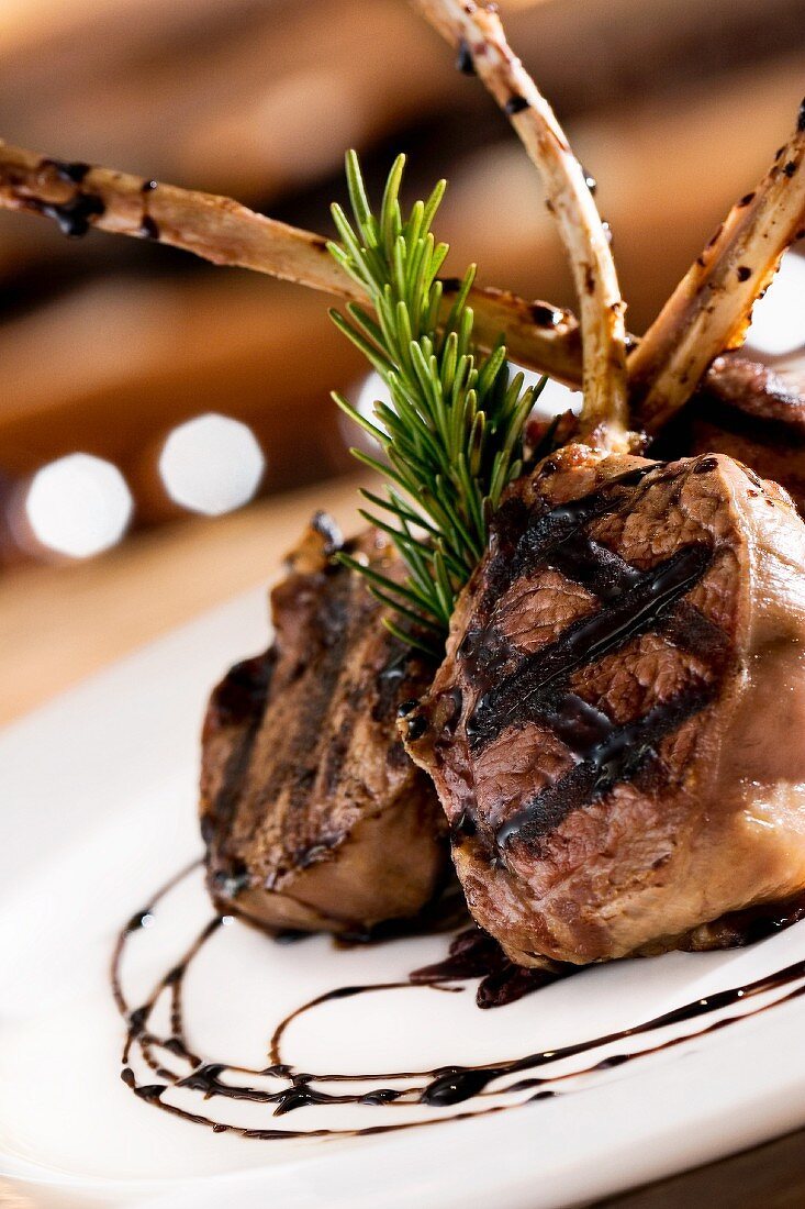 Grilled Rack of Lamb Plated Teepee Style