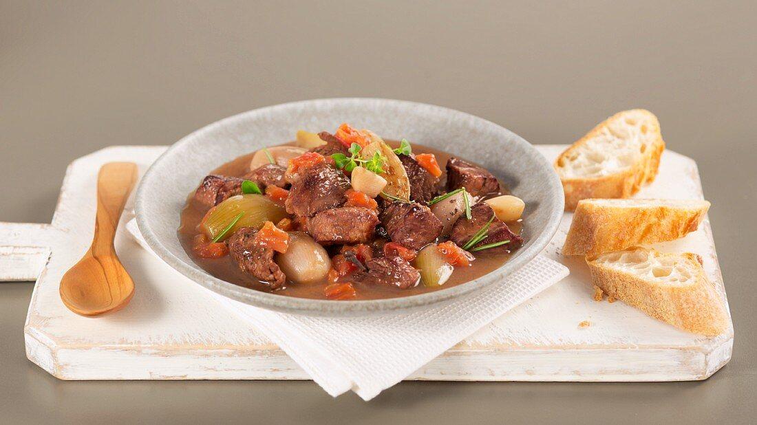Stifado (Greek meat stew)