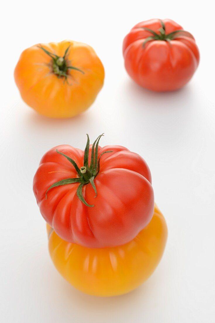 Three beef steak tomatoes