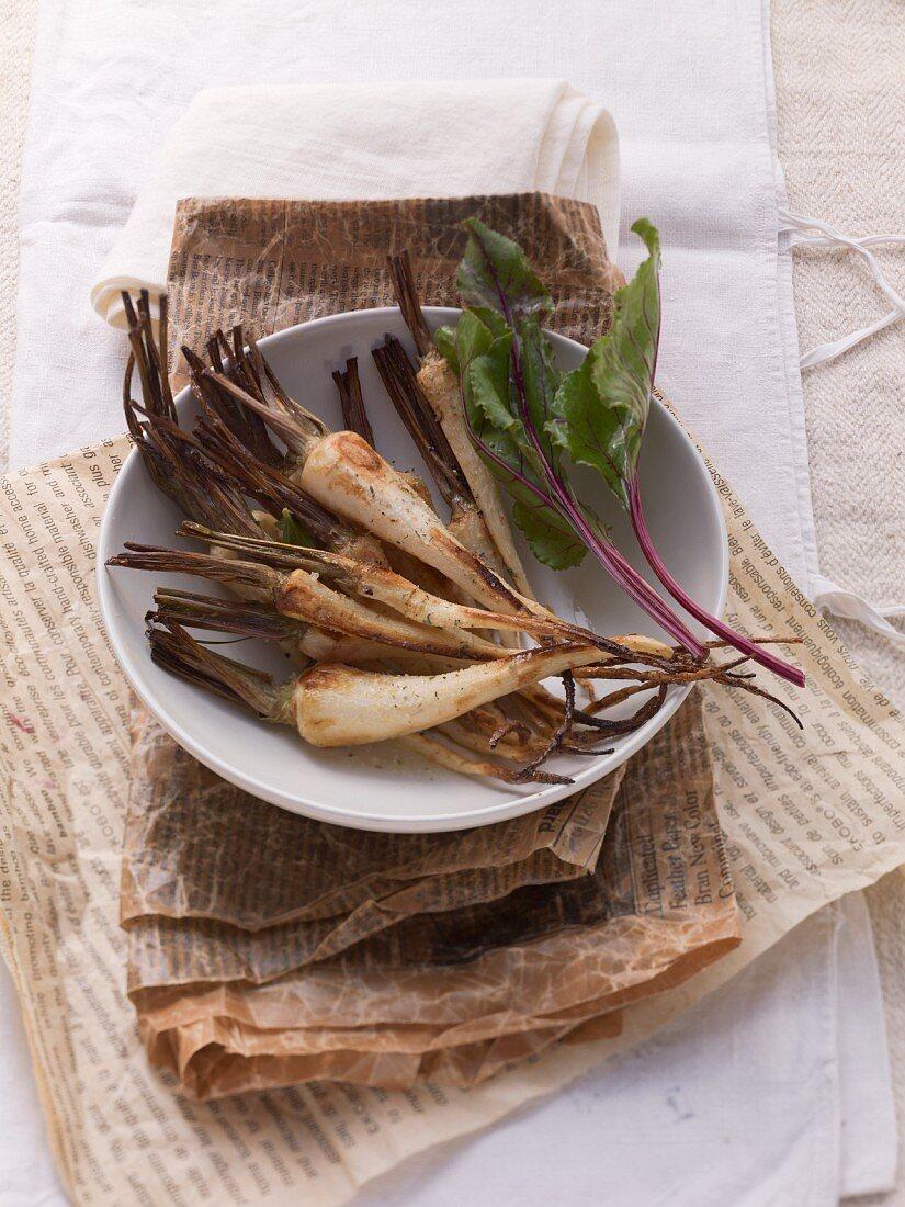 Platter of Roasted Root Vegetables