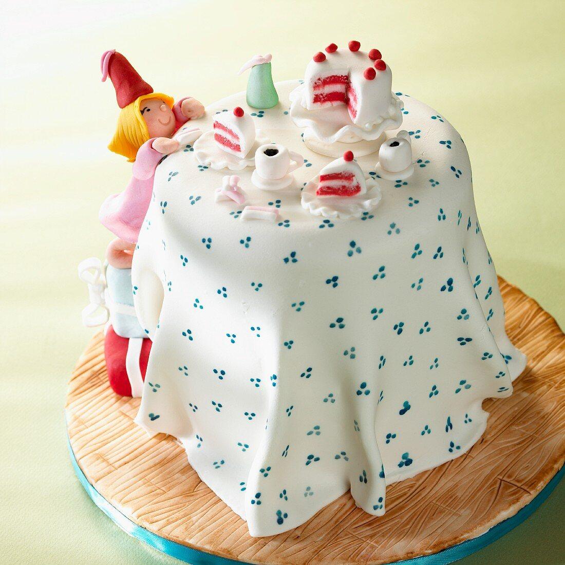 A marzipan cake