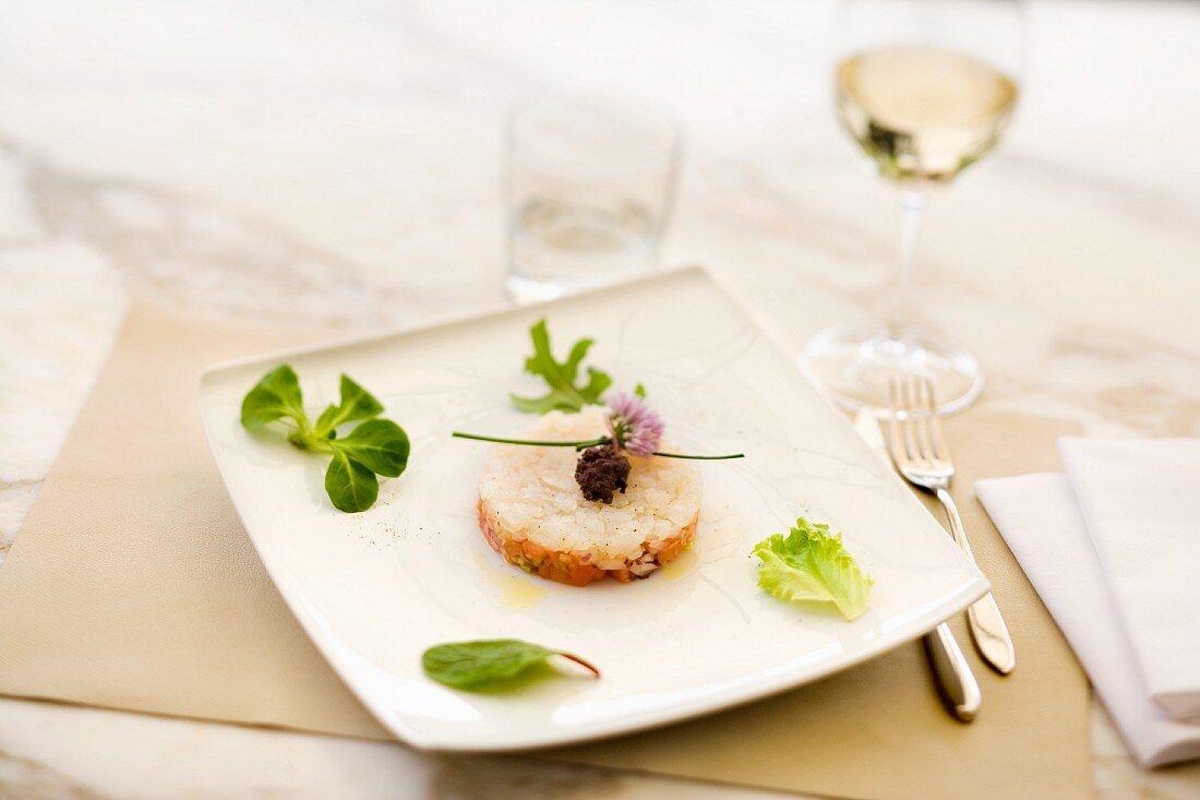 Tartara di vitello (veal tartare, Italy)
