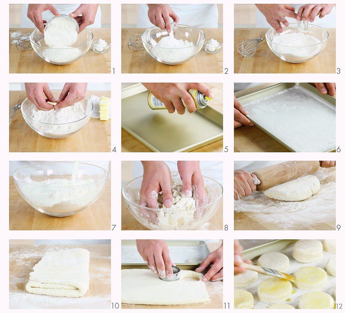 Buttermilk scones being made