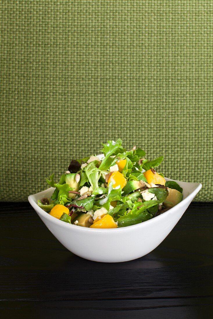Mixed salad with avocado and mango