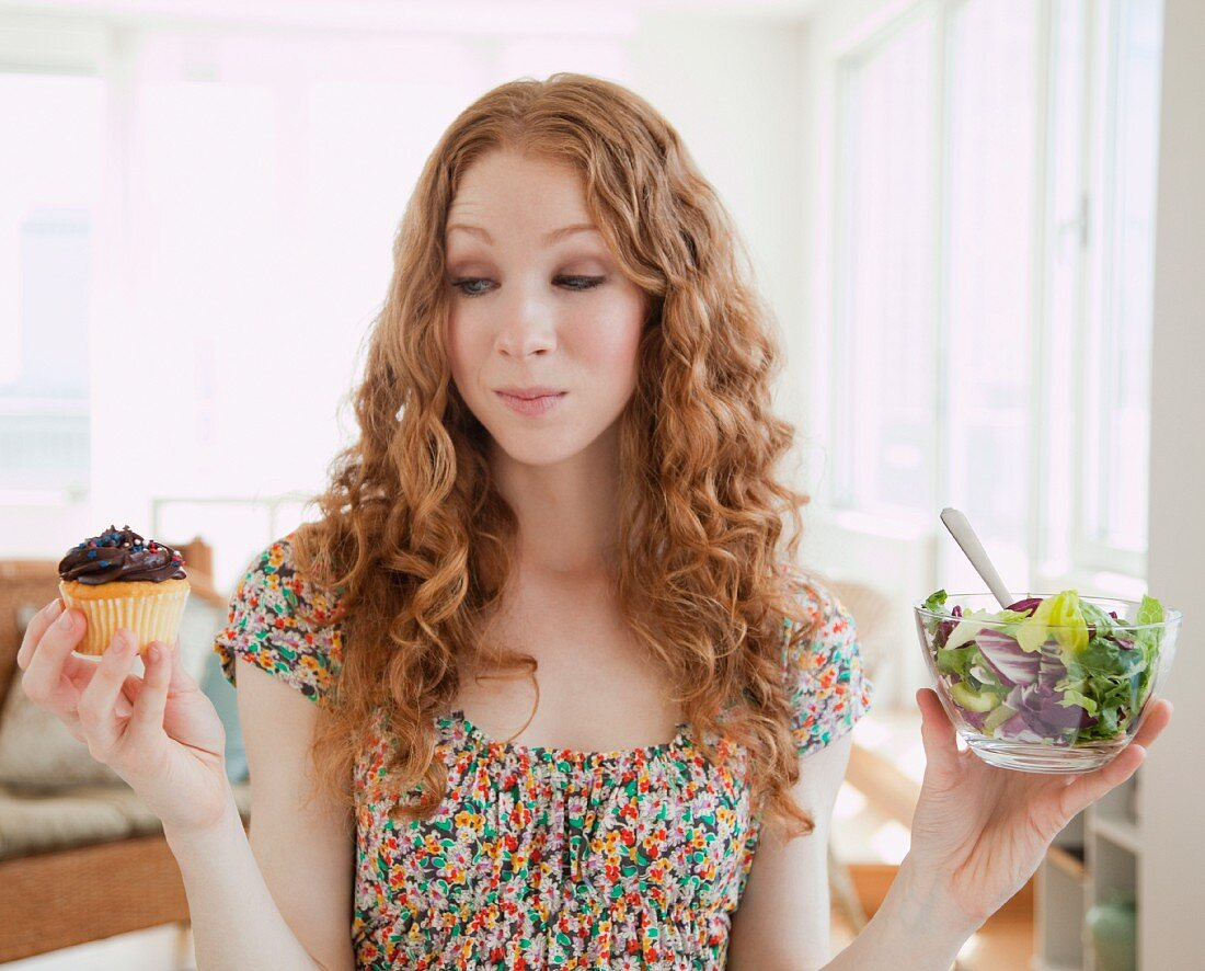 Woman holding food