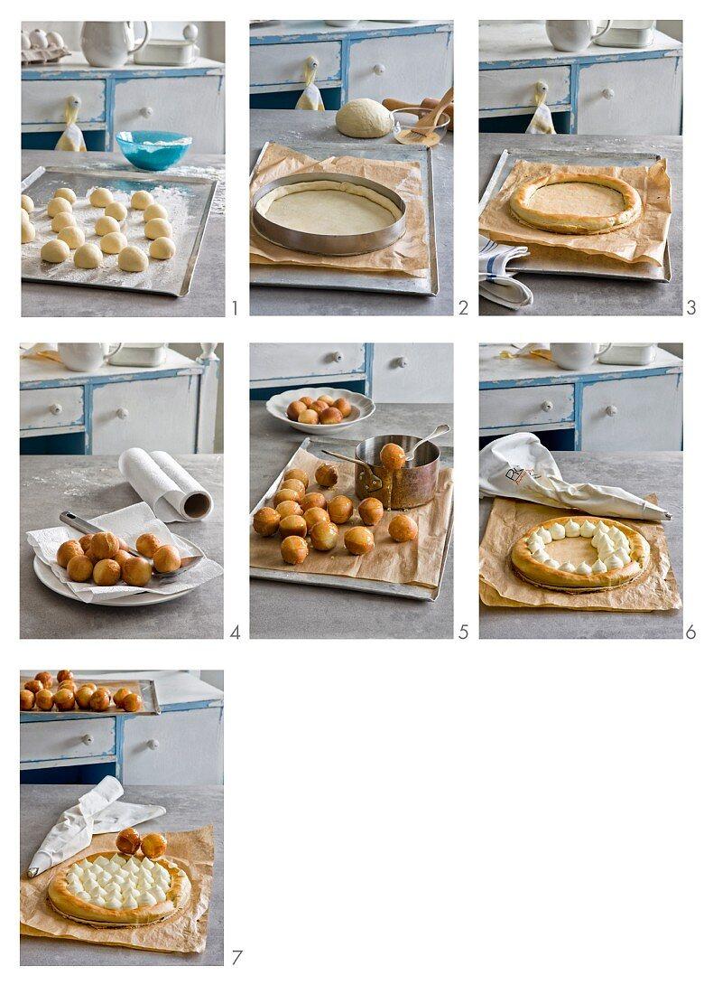 Making Saint Honore cake (France)