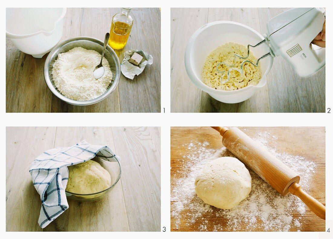 Pizza dough; basic recipe