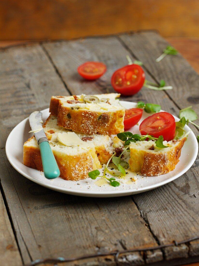 Gluten-free olive bread