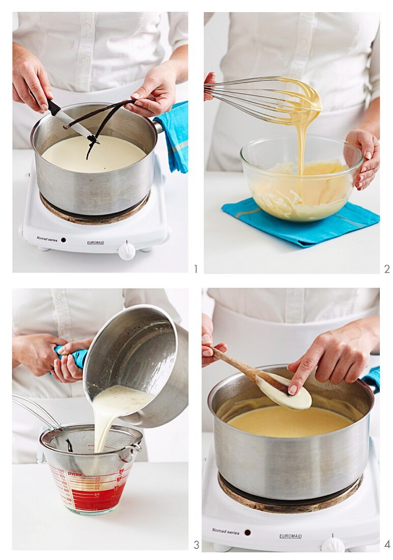 Vanilla ice cream being made in the home