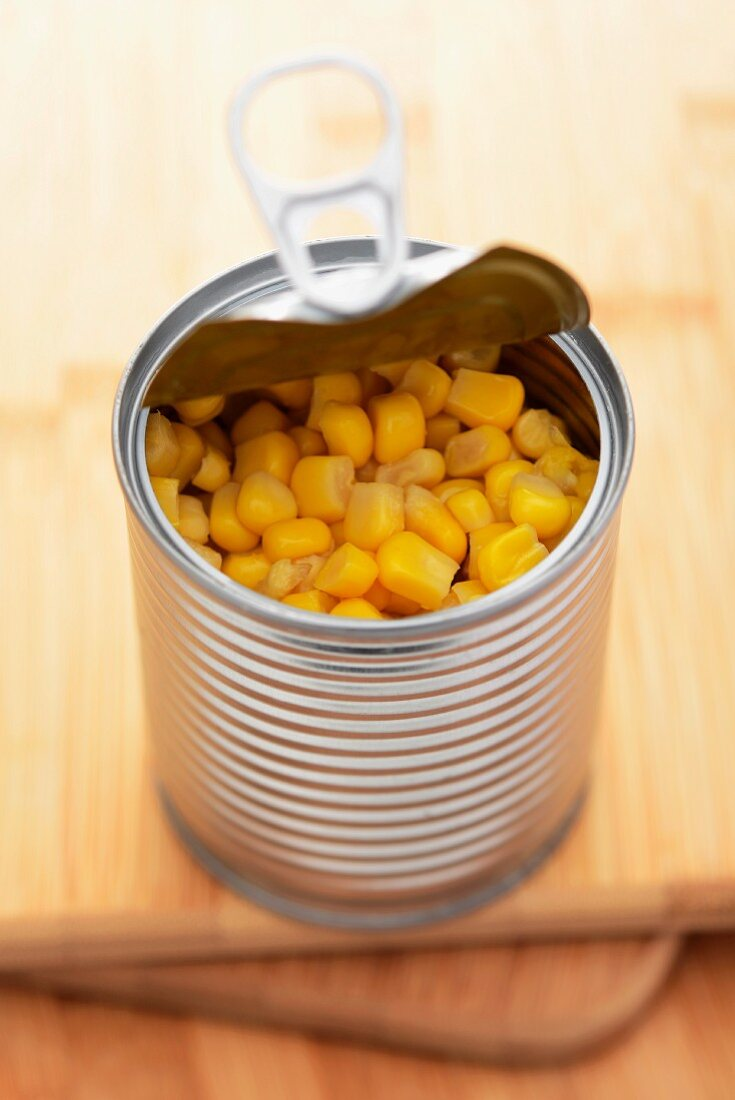Sweetcorn in a tin