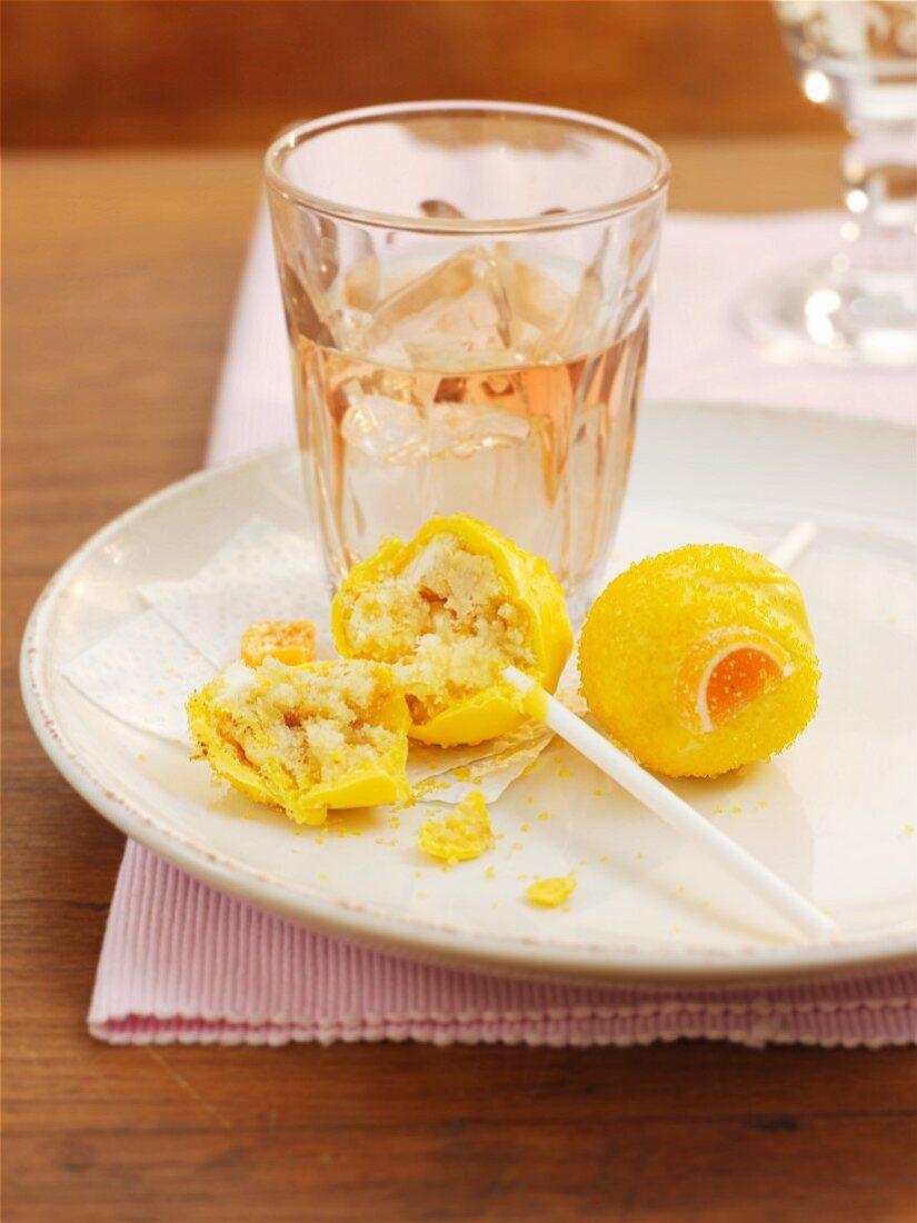 Citrus and panettone cake pops