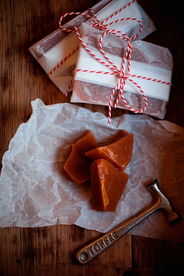 Traditional Yorkshire Plot Toffee, made for Bonfire Night (Nov 5th) in the UK