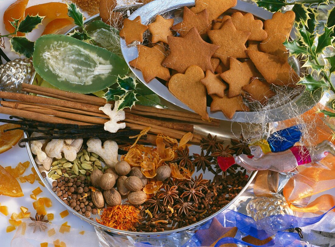 Swedish gingerbread biscuits and spices