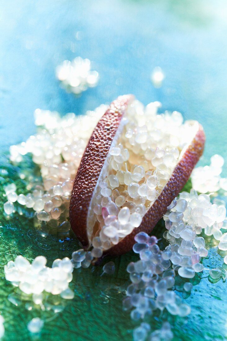 Finger Lime with Citrus Pearls