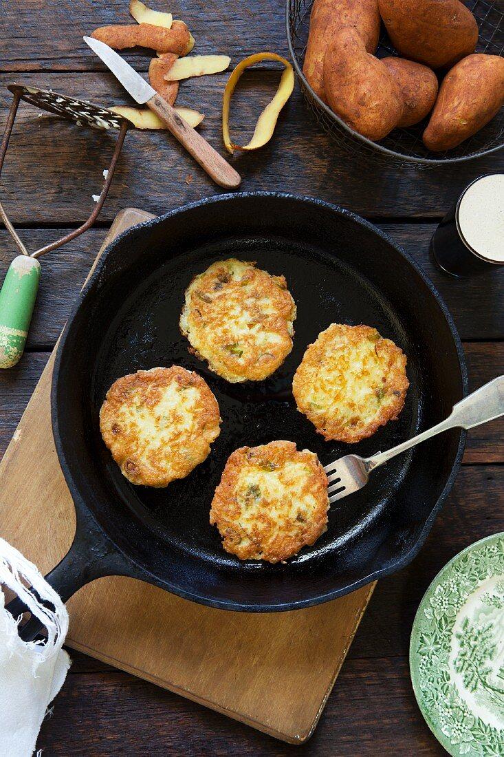 Boxty (Irish potato fritters)