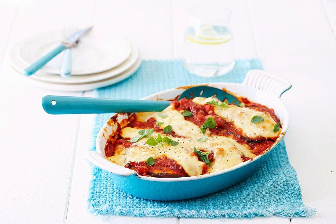 Chickpea and eggplant moussaka