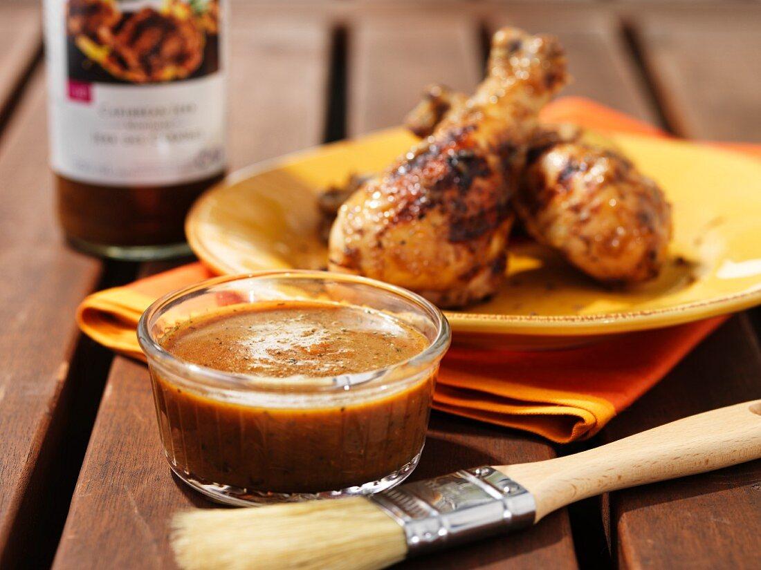Jerk marinade and grilled chicken legs