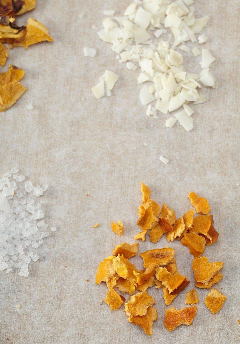 Dried Orange Peel, Shaved Coconut and Sea Salt