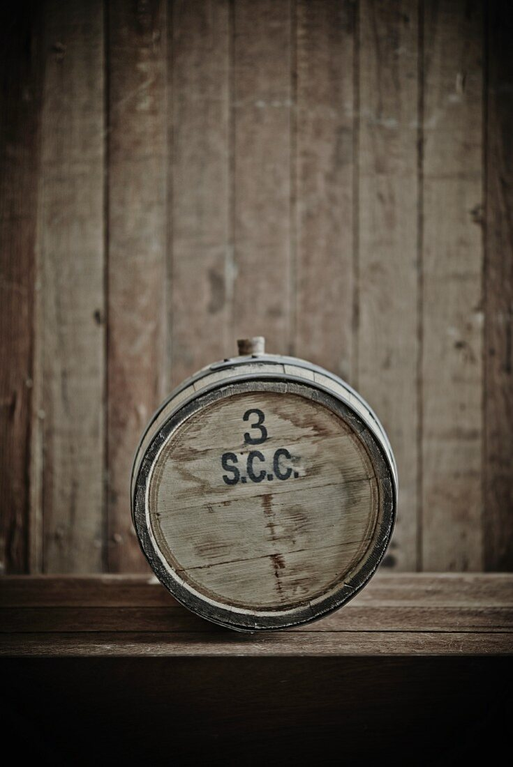 Small Bourbon Barrel Used for Making Sauces