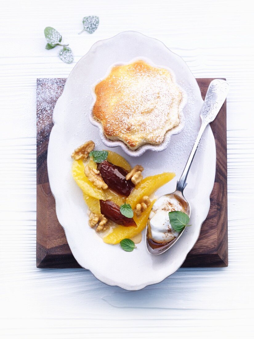 Orange and mascarpone soufflé