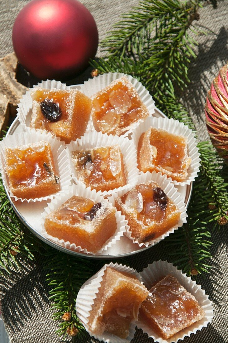 Baked apple sweets for Christmas