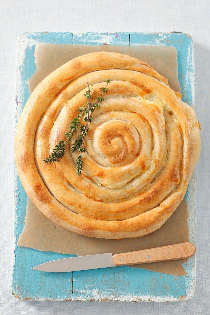 Burek (flatbread filled with cheese, Bosnia and Herzegovina)