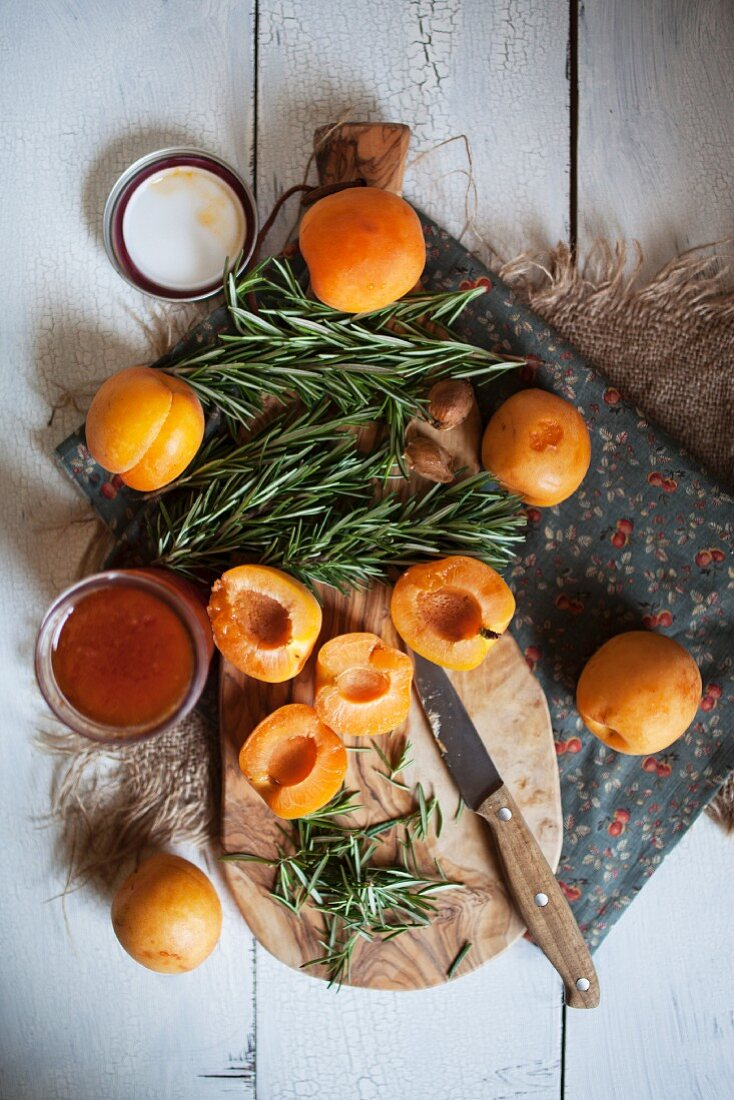 Apricots, Rosemary and Apricot Jam