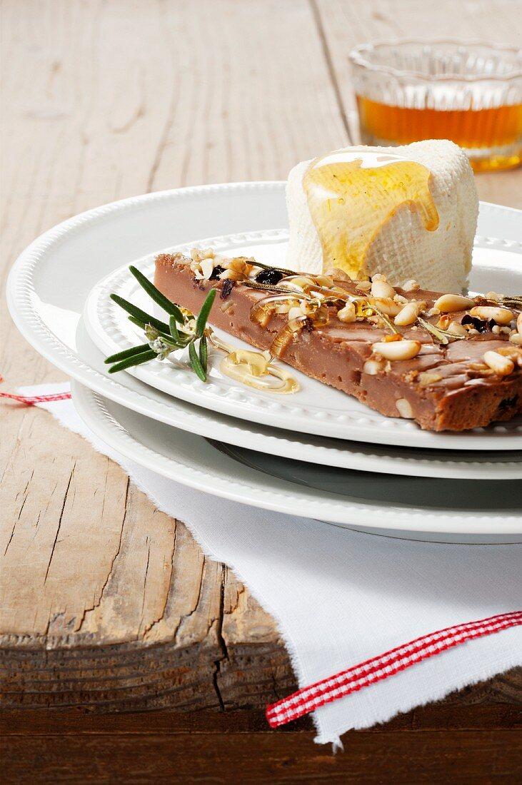 Castagnaccio (chestnut cake, Tuscany, Italy)