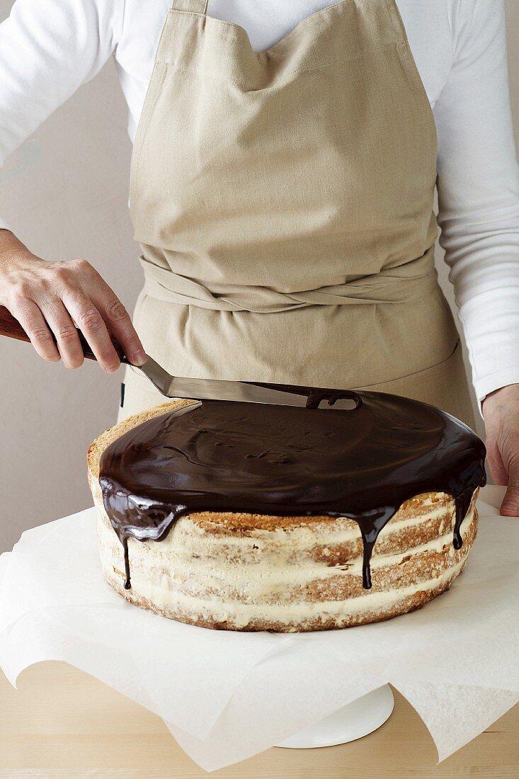 Celebration Indulgent Chocolate Cake - Step 05/06