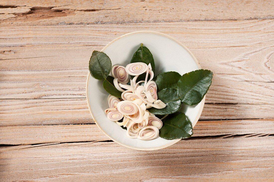 Lemongrass and kaffir lime leaves