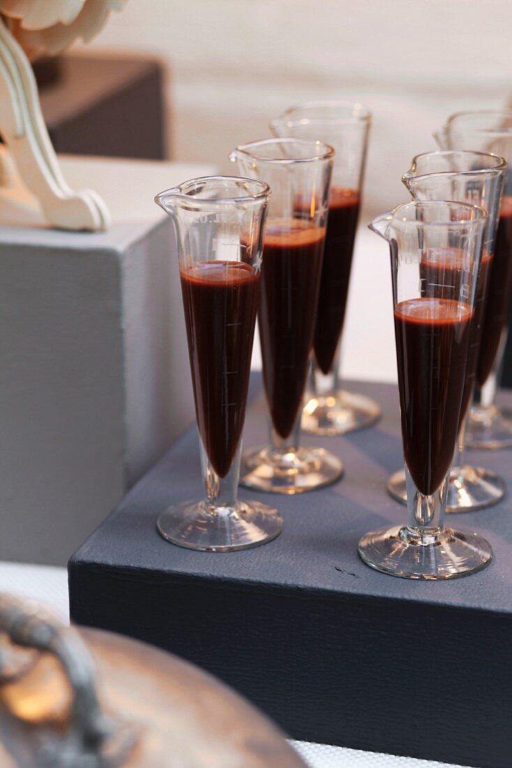 Hazelnut and chocolate shots