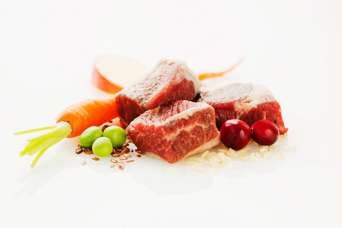 Lamb Cubes with Assorted Ingredients