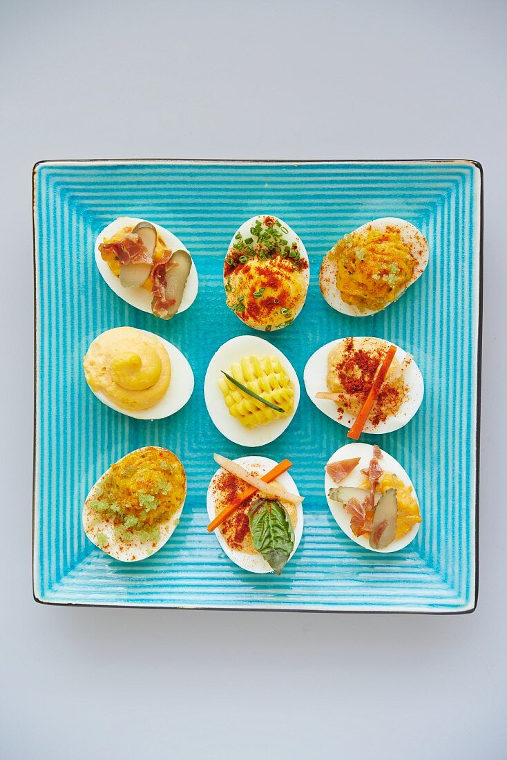 A Variety of Deviled Eggs