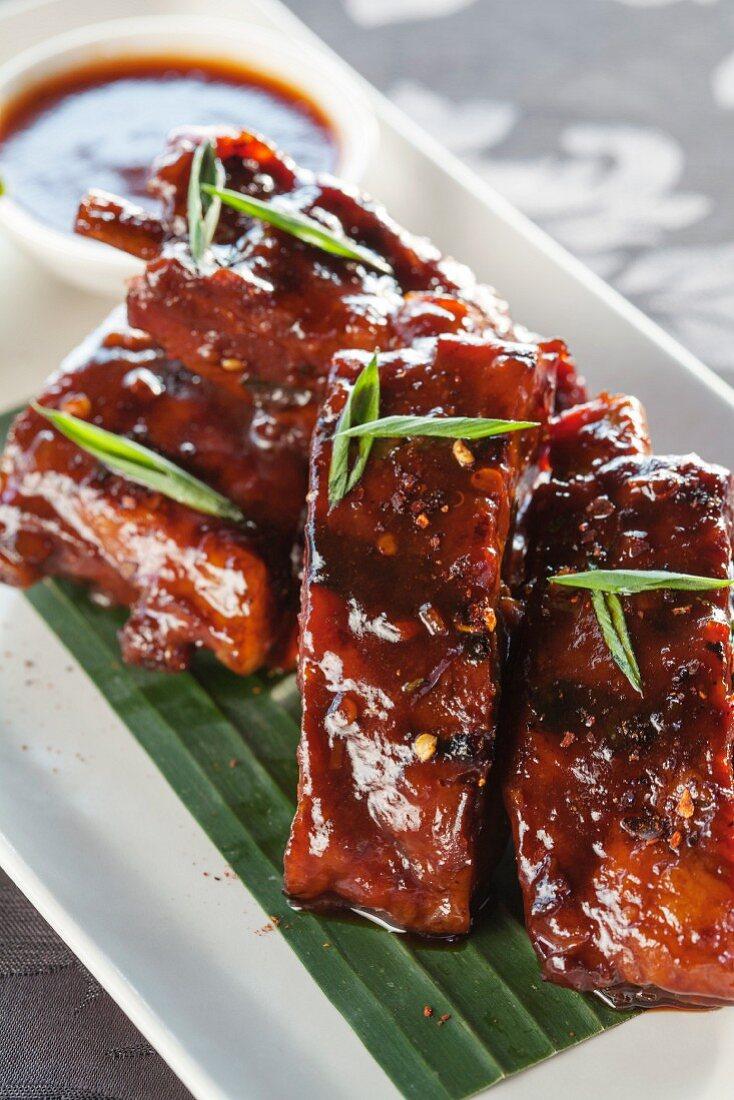 Glazed pork ribs (Bali, Indonesia)